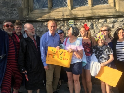 Save Grange Lido meets MP Tim Farron