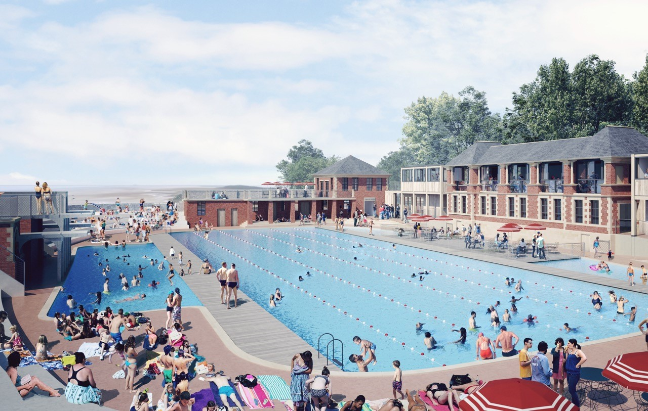A visualisation of how the restored Lido should look