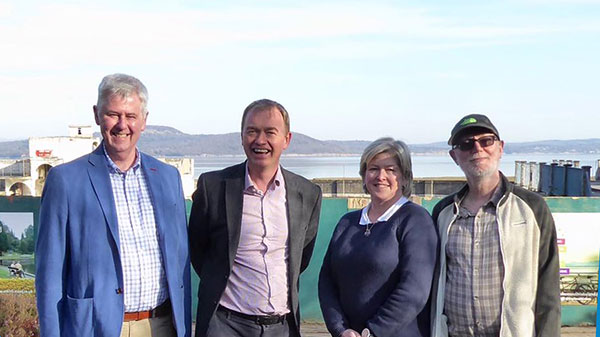 Tim Farron meets with Save Grange Lido
